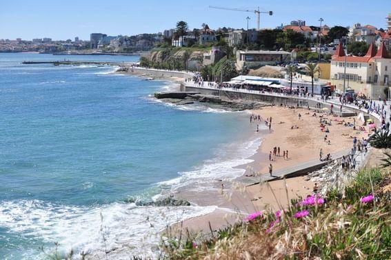 Beautiful sea shore at Hotel Cascais Miragem