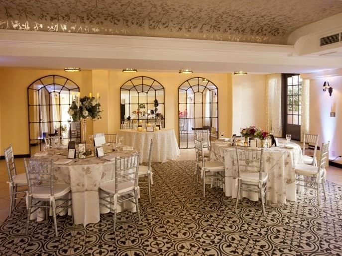 ballroom with decorated dining tables