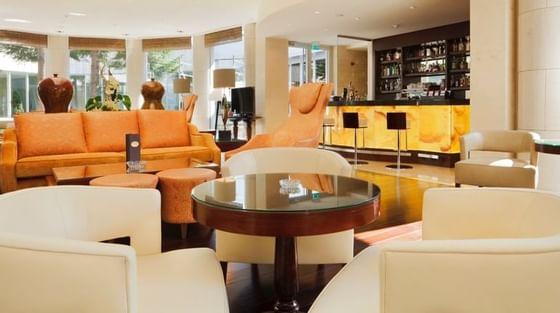 The Café Lounge area at Crowne Plaza Hotel Bucharest