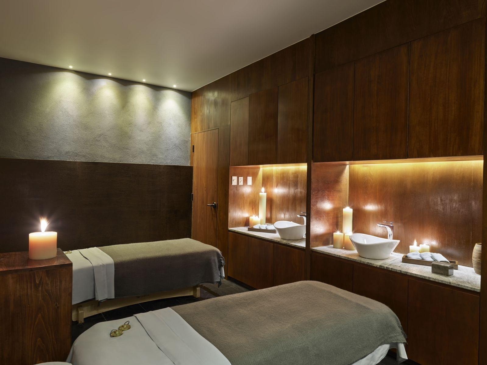 Massage Tables in spa at the La Coleccion Resorts