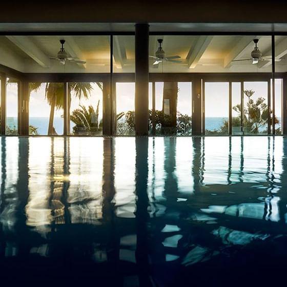 Interior pool view at Marbella Club