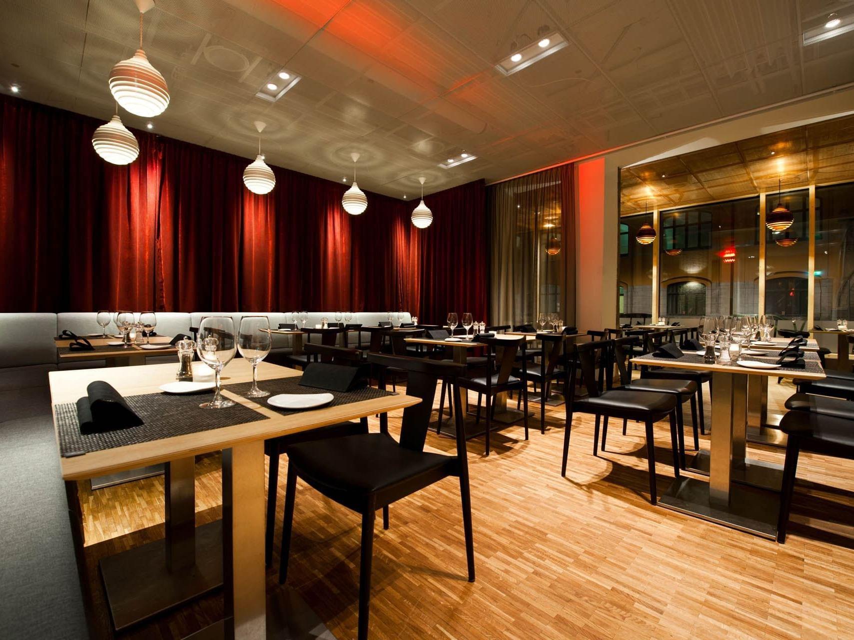 Dinner at Hotel Birger Jarl in Stockholm, Sweden
