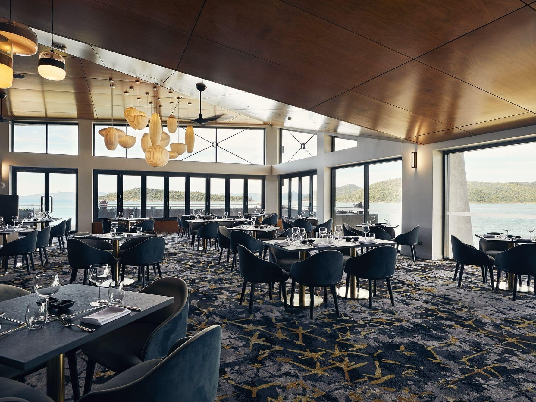 Arranged table in Infinity Restaurant at Daydream Island Resort