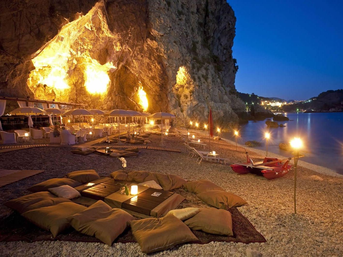 beach party siciliy taormina