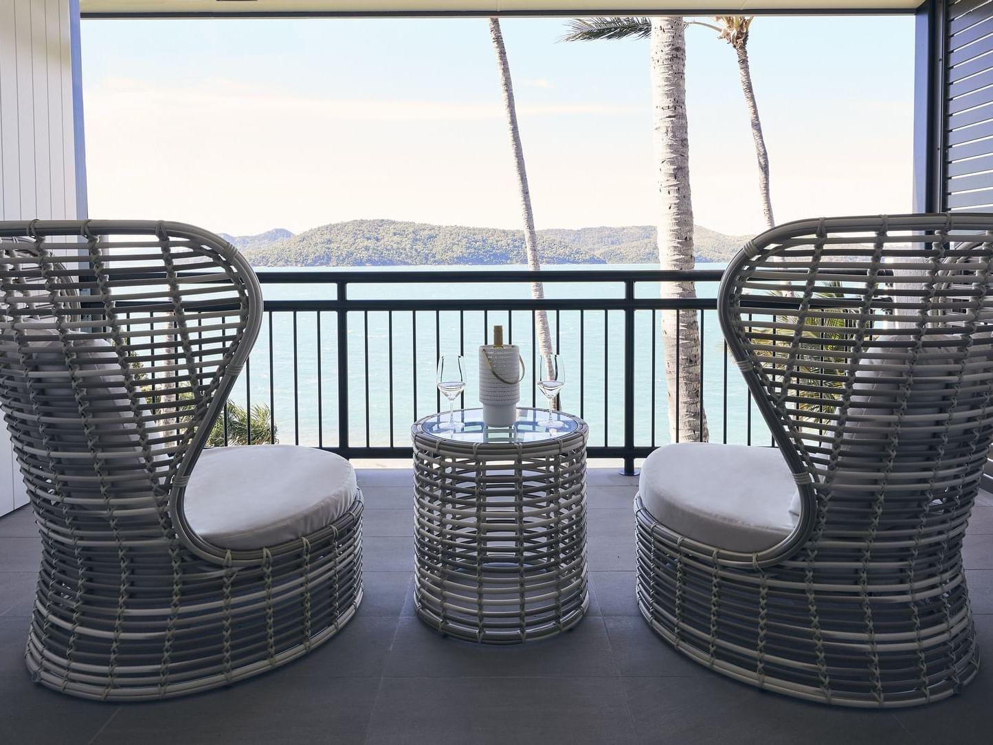 Ocean view from Deluxe Ocean Terrace at Daydream Island Resort