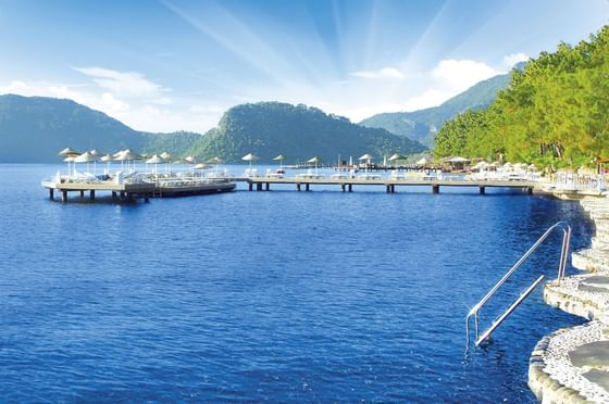 Small Bay With Pier