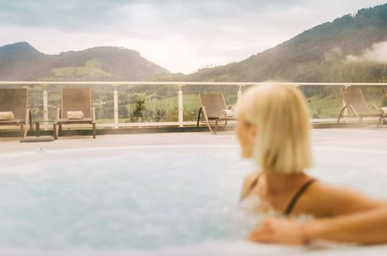Heated Outdoor Pool at IMLAUER Hotel Schloss Pichlarn