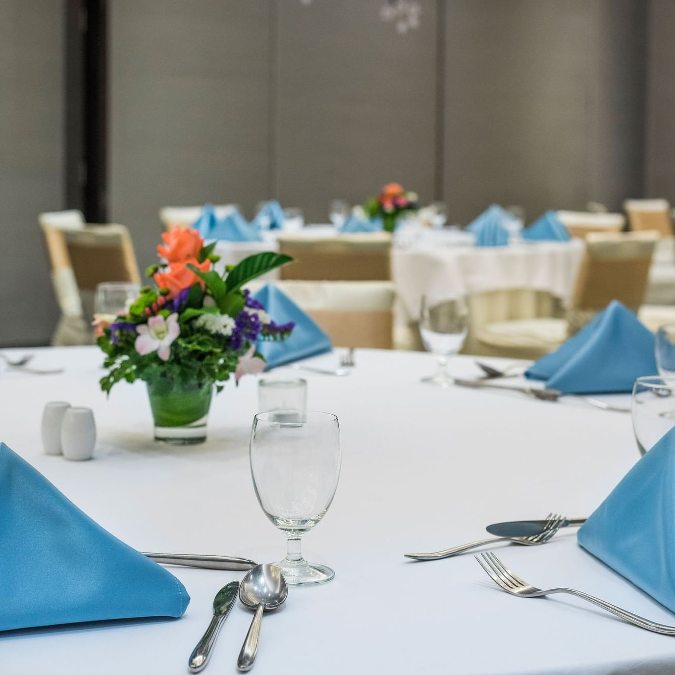 Table setting in an event at Chatrium Residence Sathon Bangkok