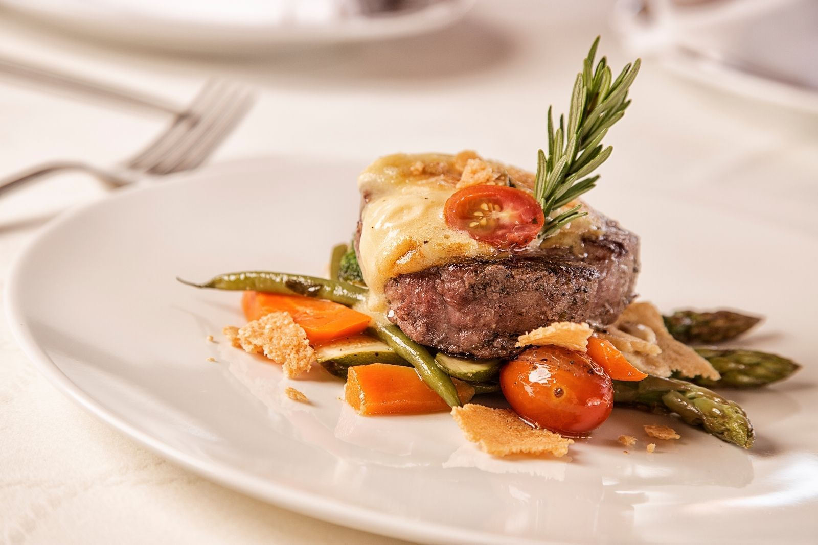 a steak and vegetable dish