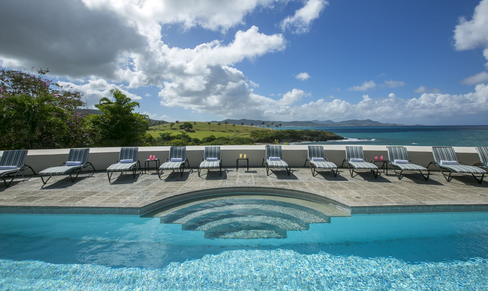 Outdoor Pool Deck with chairs