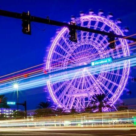 a large ferris wheel