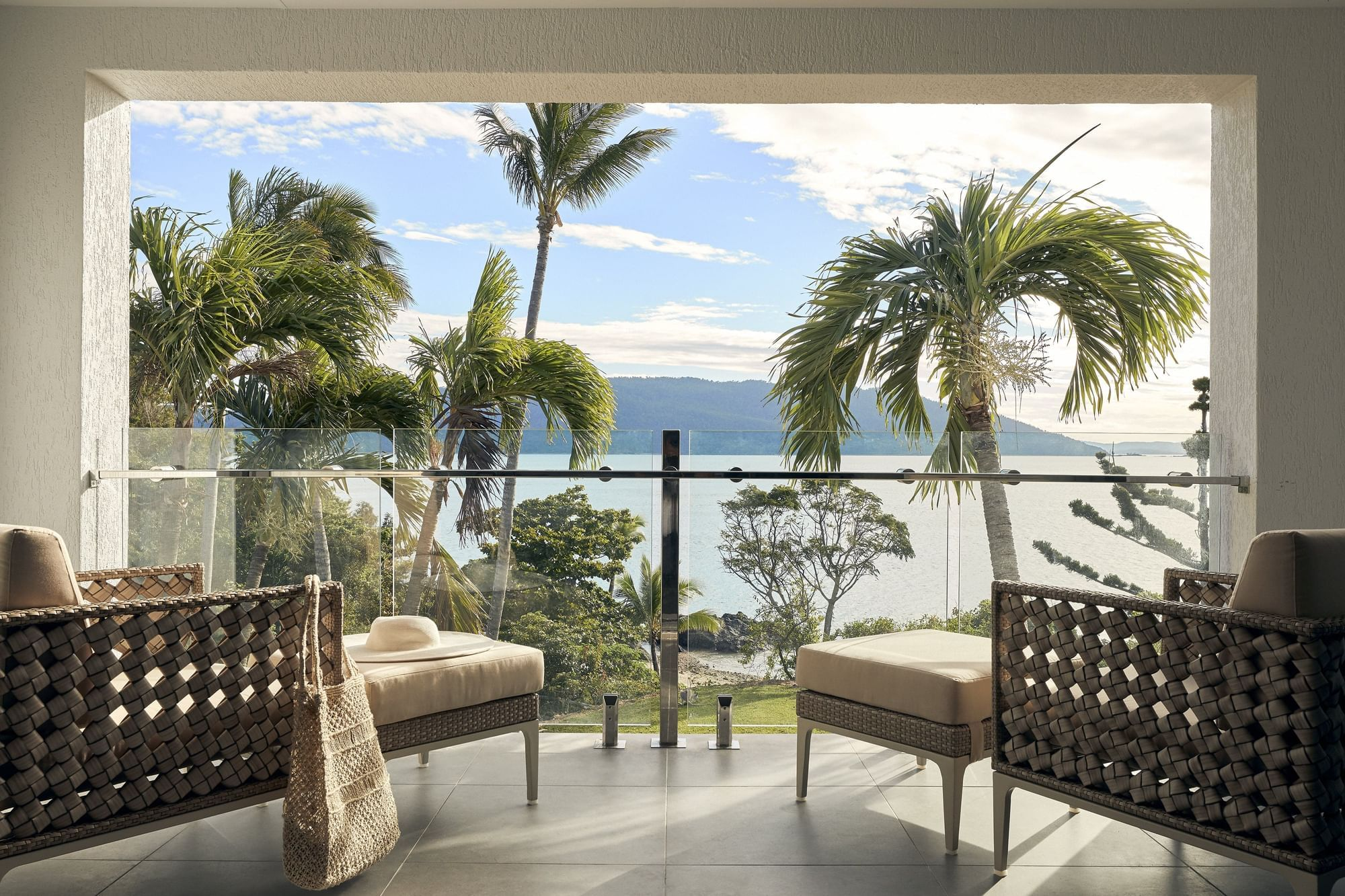 Terrace with sea view in room at Daydream Island Resort