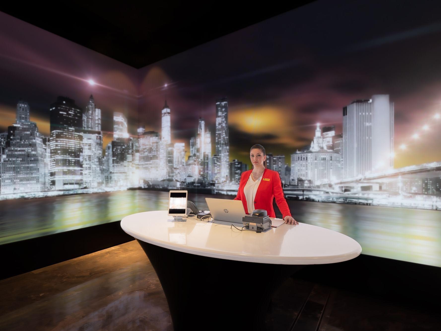 Welcome & Goodbye Desk at Paramount Hotel Dubai