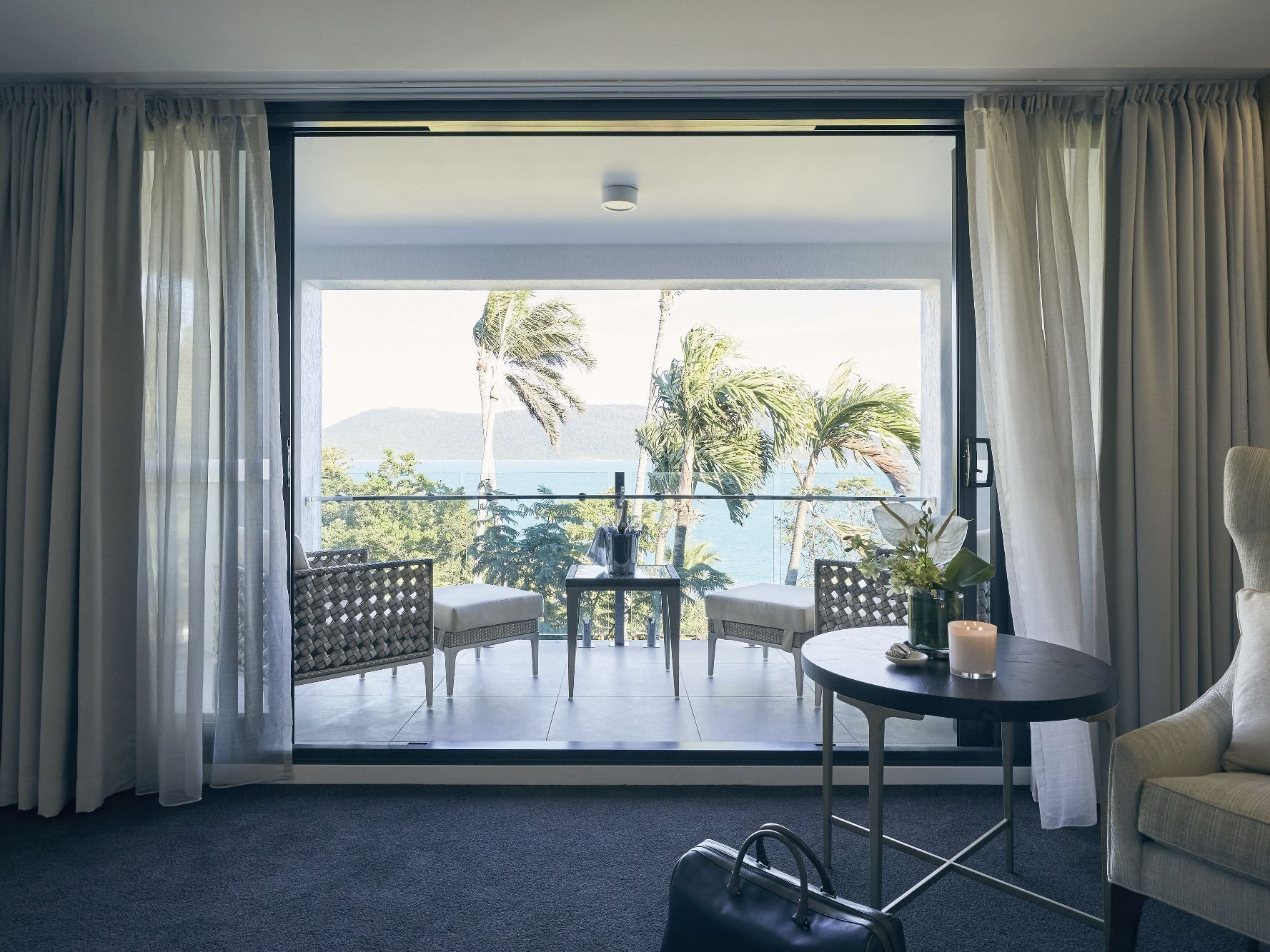 Ocean view from Deluxe Serenity Twin at Daydream Island Resort