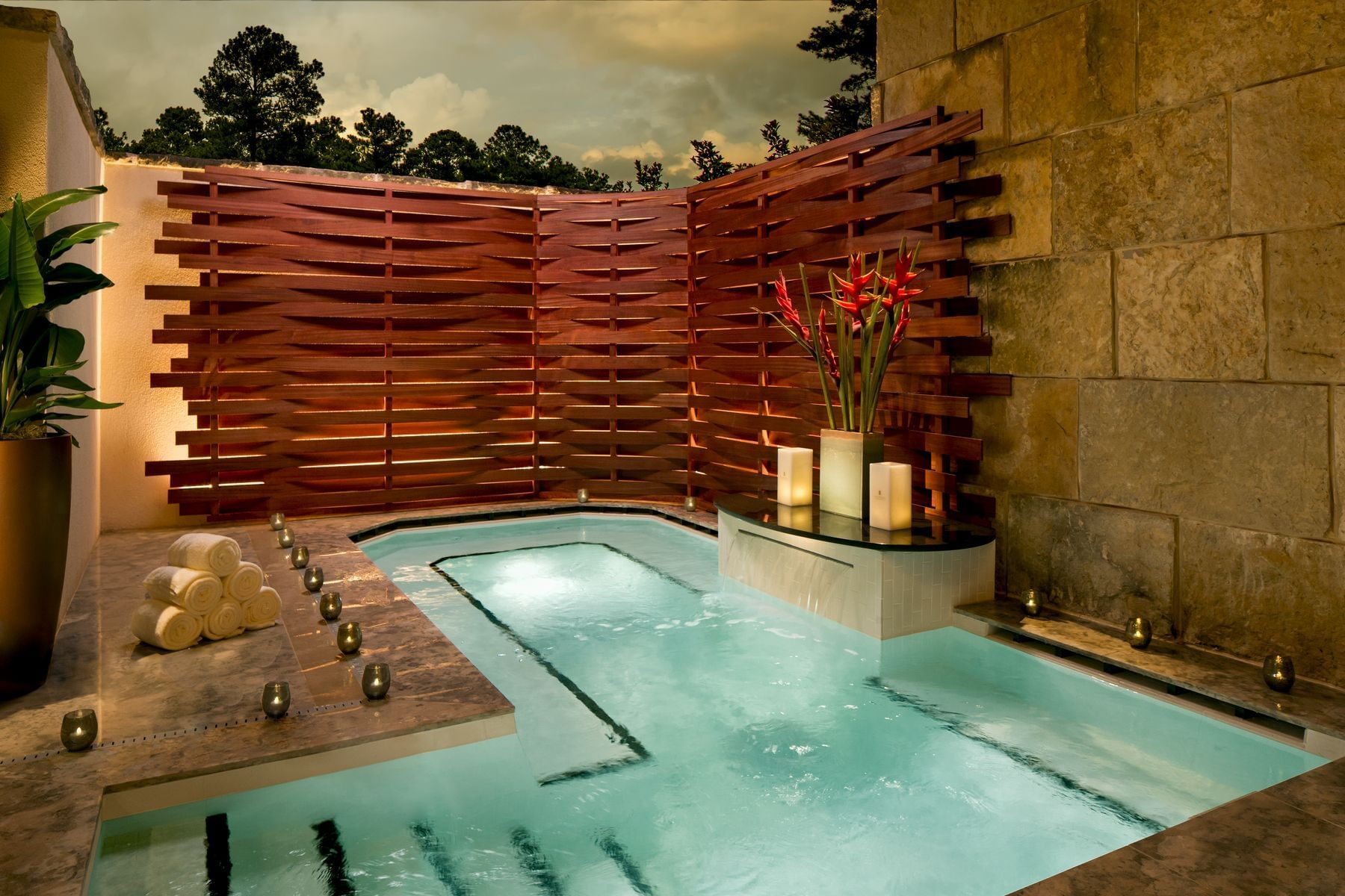 pool area at a spa