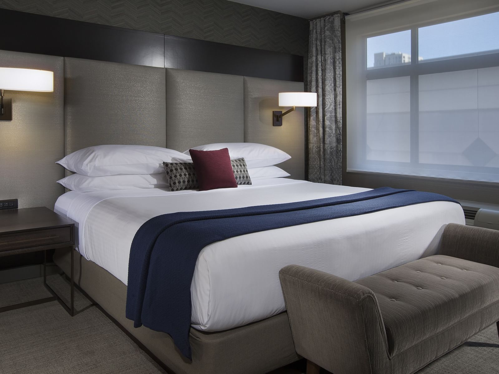 Bedroom of Metropolitan Suite at The Paramount Hotel Seattle