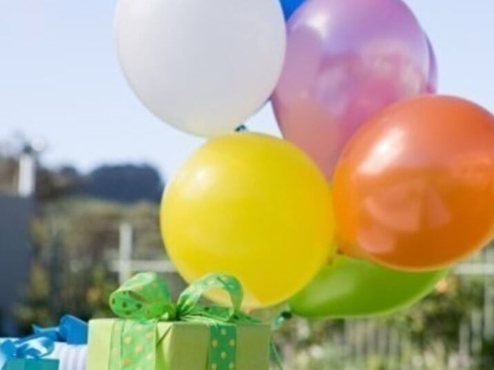 Colorful Balloons & presents on a table at Ana Hotels