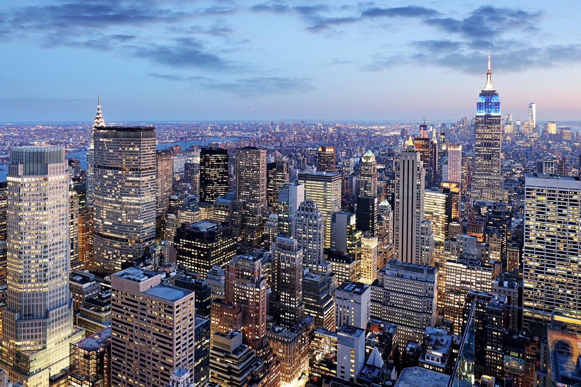 Vue aerienne de New York
