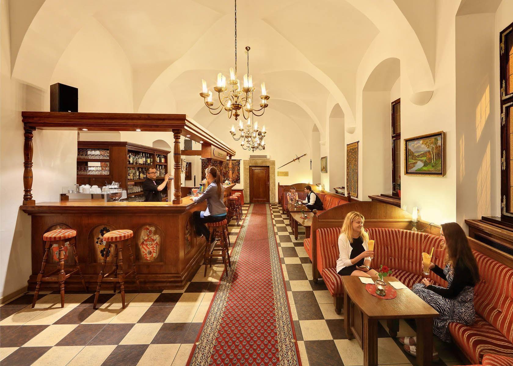 Lobby Bar Hotel Ruze, Český Krumlov, Czech Republic