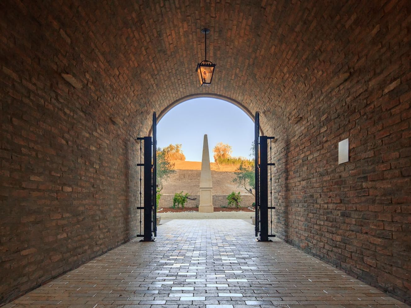 Tunnel exit to courtyard