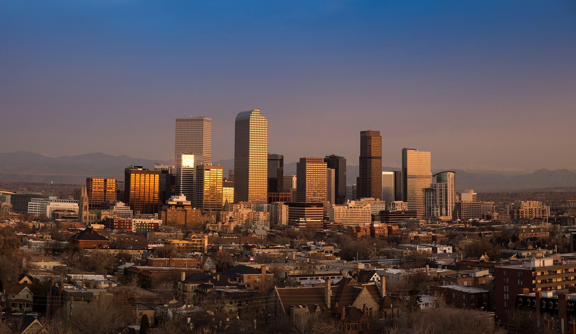 Denver CitySkyline with the hotel
