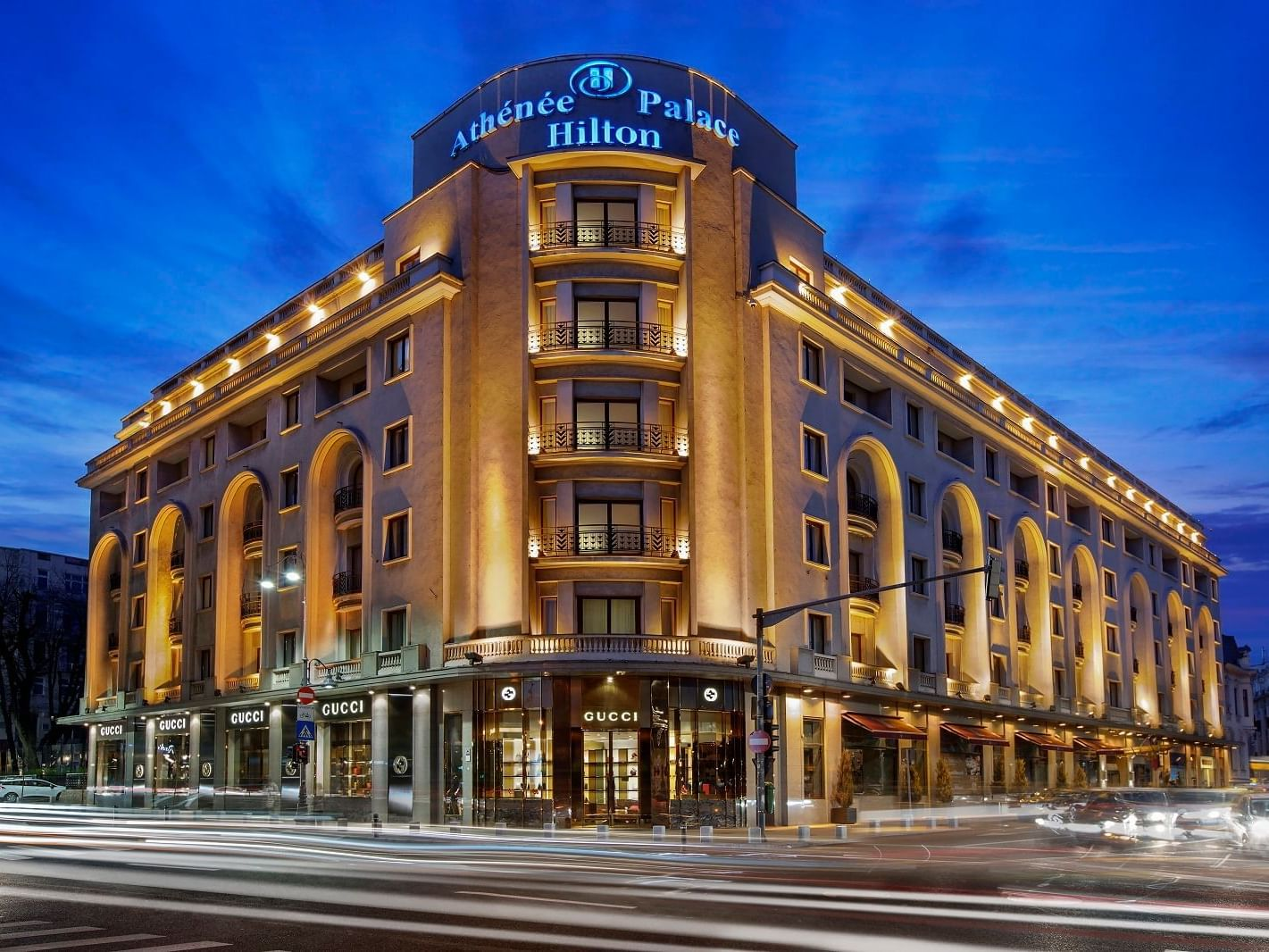 Exterior view of the Hotel at Athenee Palace Hilton Bucharest