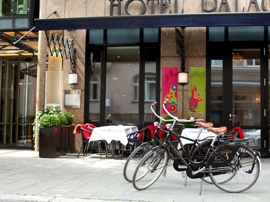 Fahrradverleih im Hotel München Palace