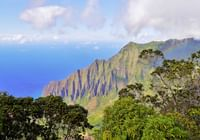 Na Pali cliffs is a popular local attractions for guest at Waimea Plantation Cottages