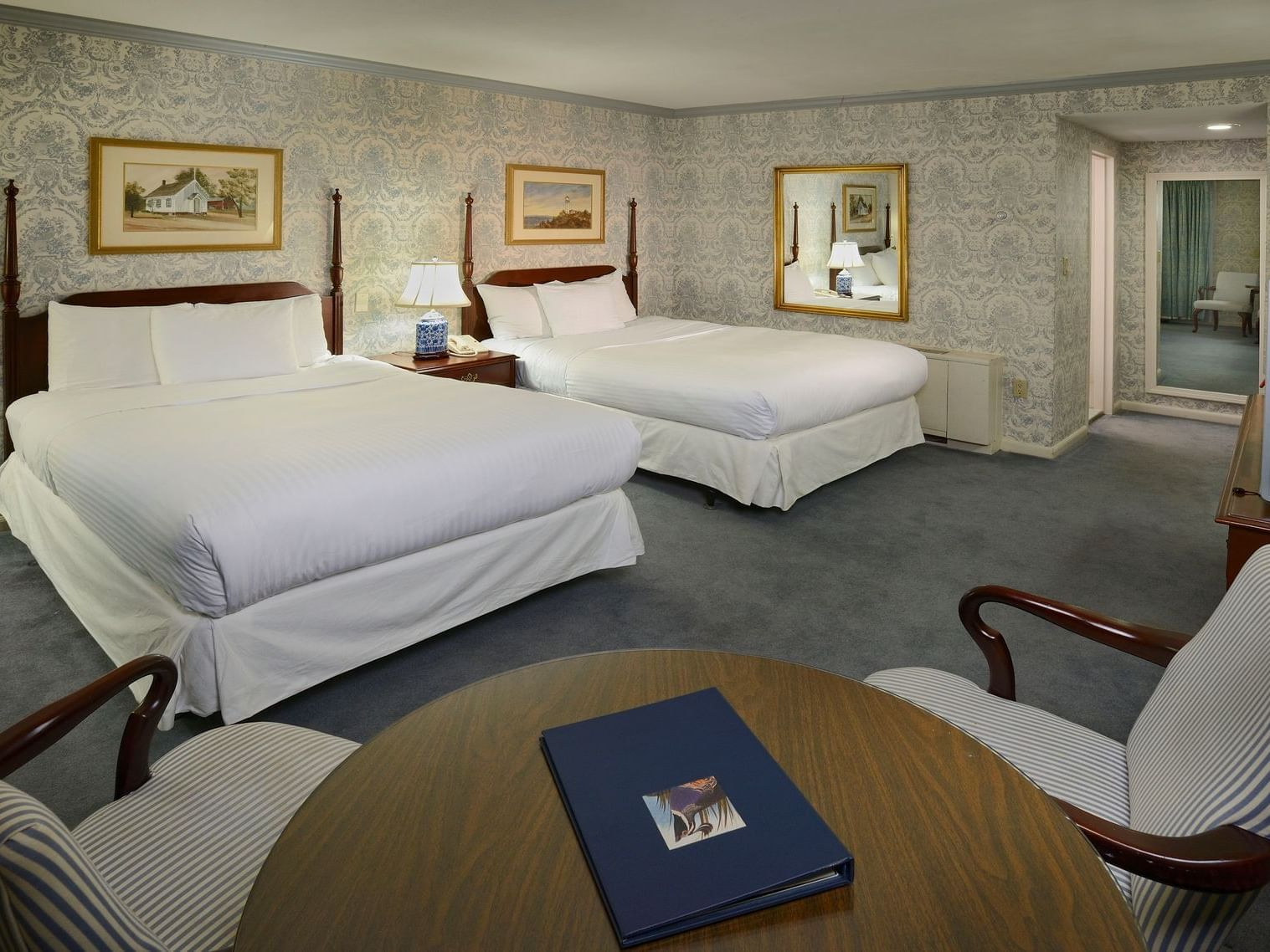 Twin beds in Two Double Standard at Avon Old Farms Hotel