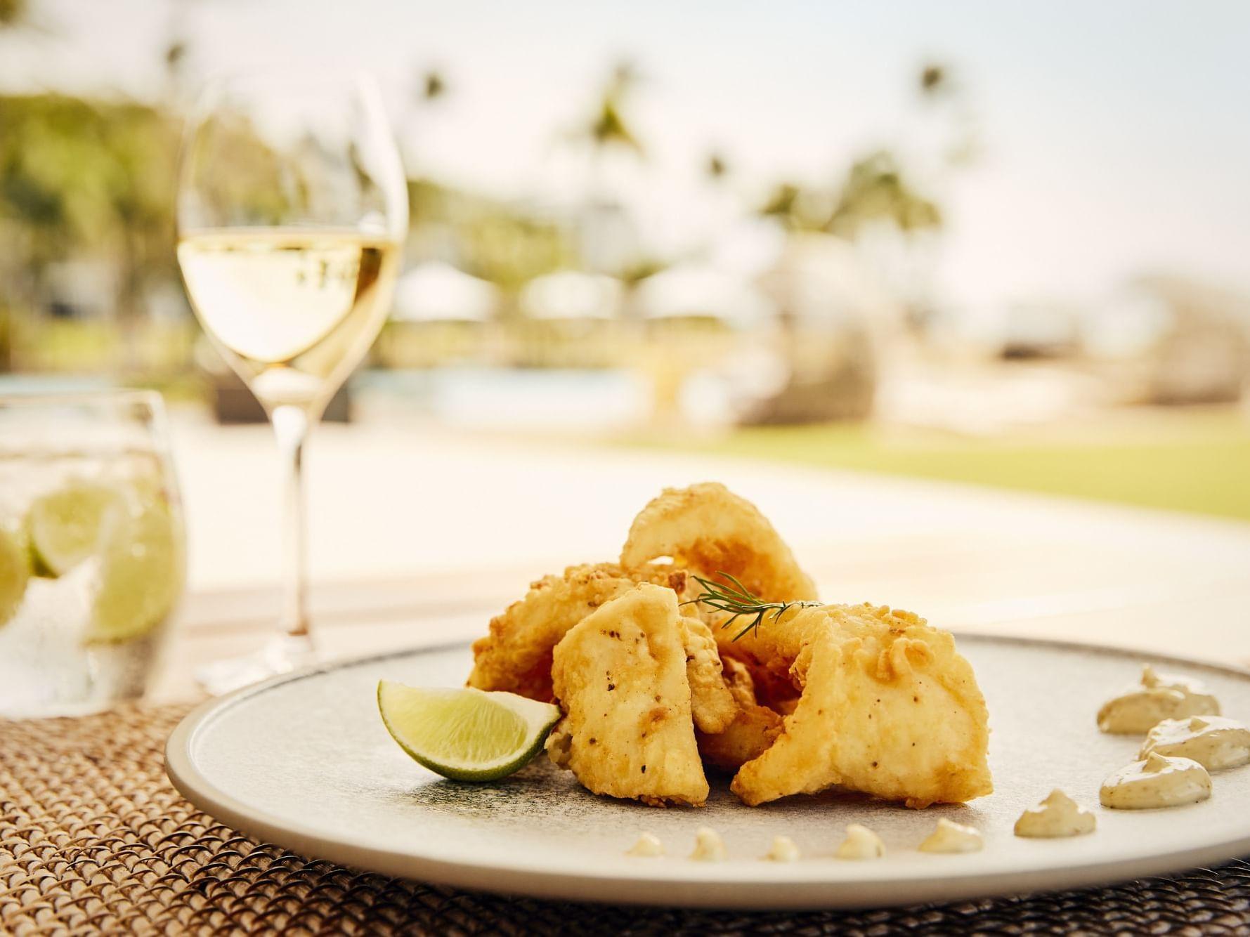 Calamari in Infinity Restaurant at Daydream Island Resort