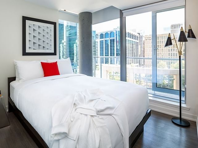 two bedroom suite - bedroom and balcony view