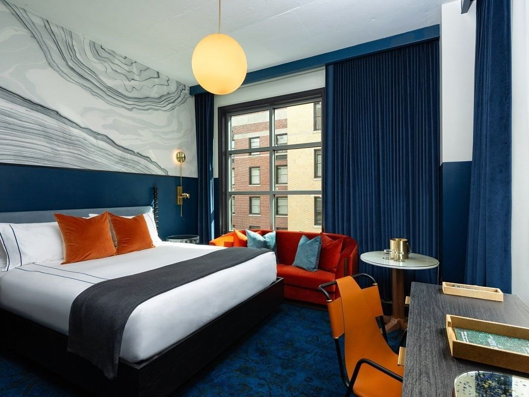 King size bed &study table in Silver Queen at Dream Nashville