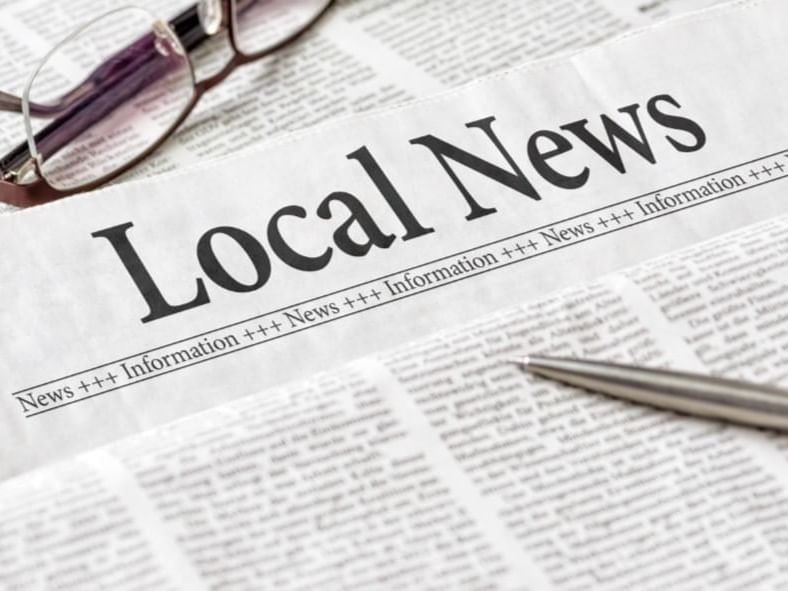 newspaper with local news