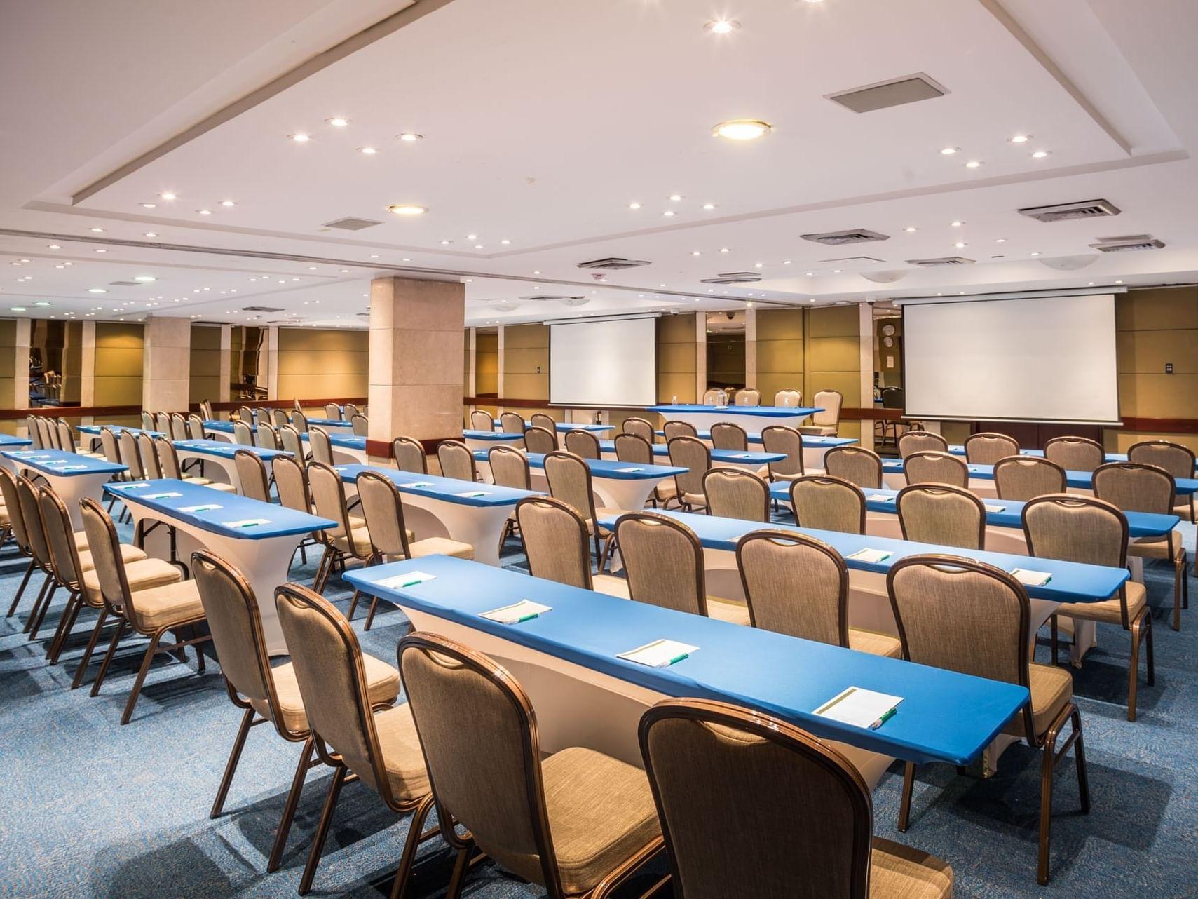 La Carolina room arranged for an event at Bogota Plaza Hotel
