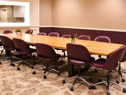 chairs at a conference table