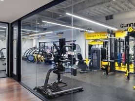 Gym and workout fitness center view at Dream Bangkok