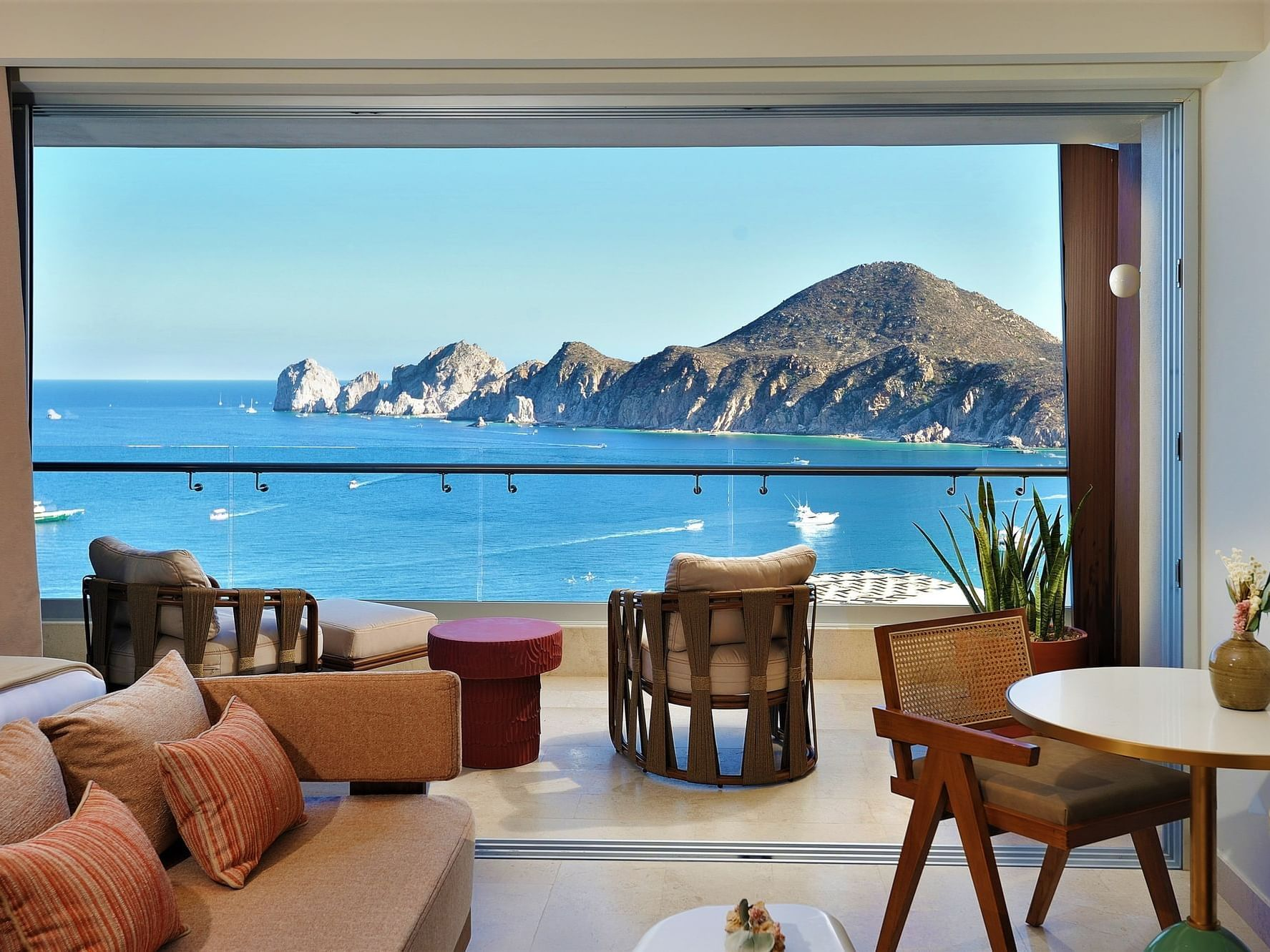Furniture in Infinity Two Queens Suite at Cabo Villas Resort