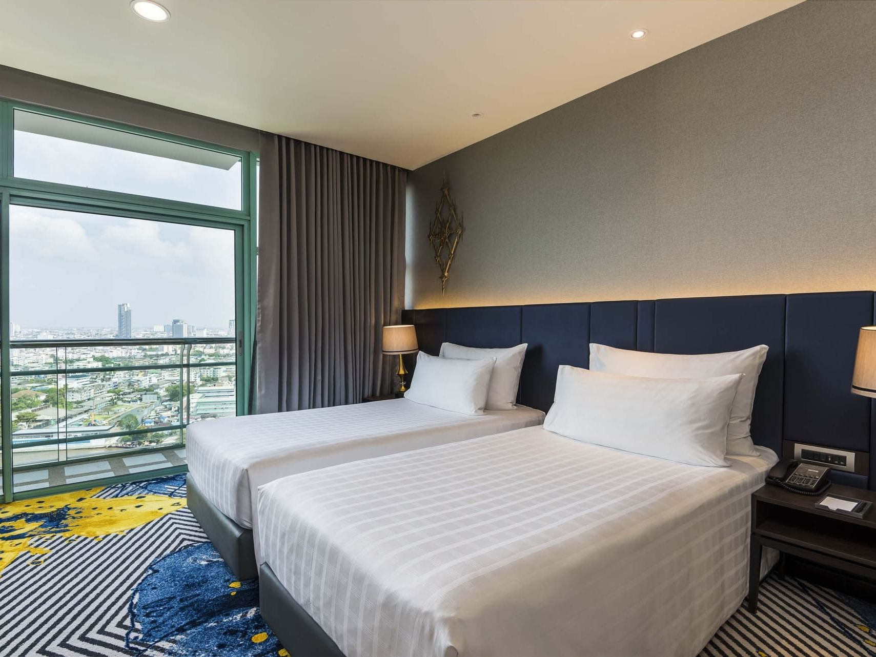 Grand Room Skyline with River View at Chatrium Hotel Riverside