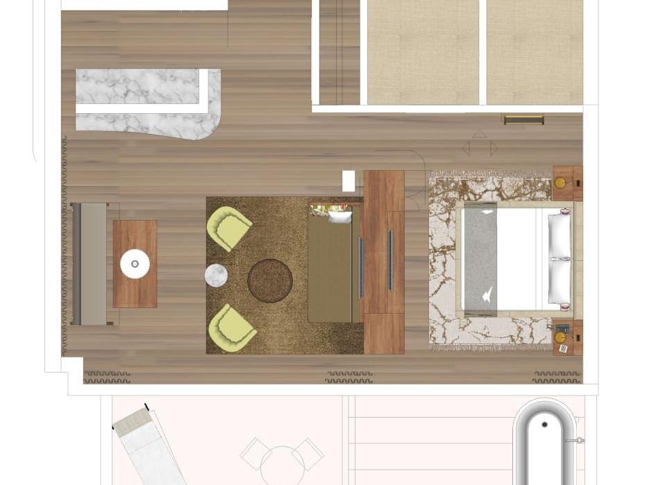 Floorplan of apartment standard room
