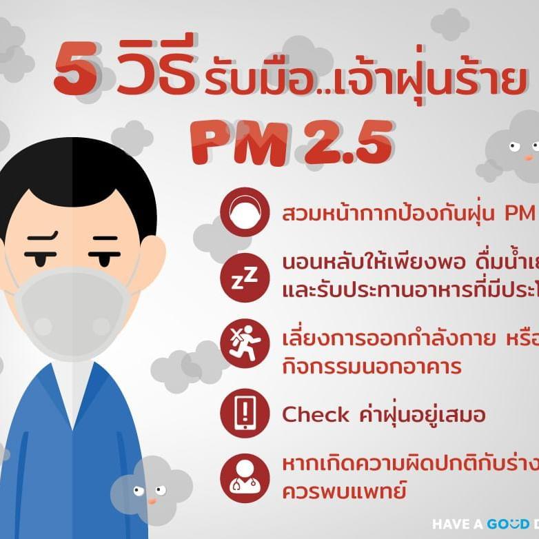 5 วิธีรับมือ เจ้าฝุ่นร้าย PM 2.5