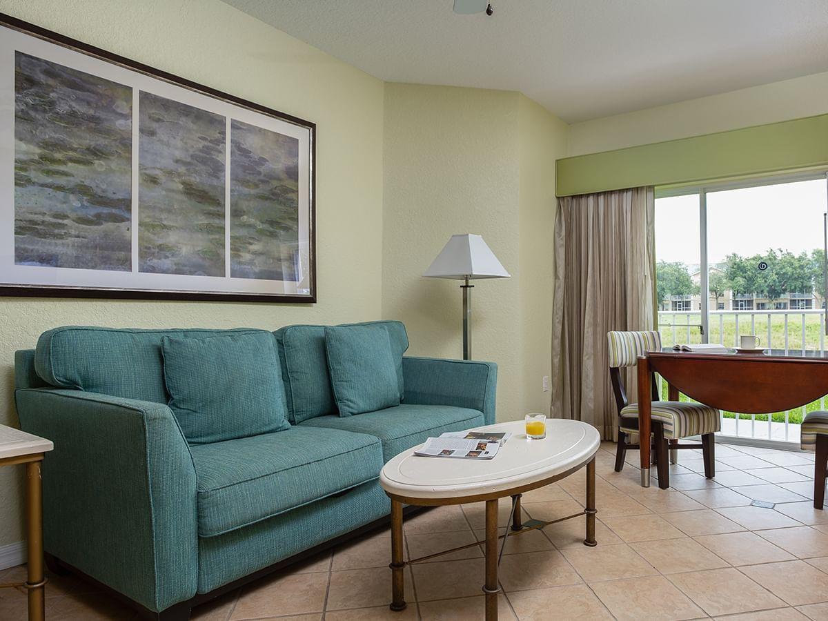 Living area in One Bedroom Standard Room at Mystic Dunes Resort