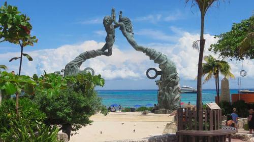 Playa del carmen with beach line near The Reef Resorts