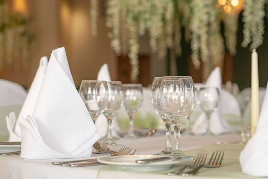 City Hotel Derry Ballroom Table Decorations