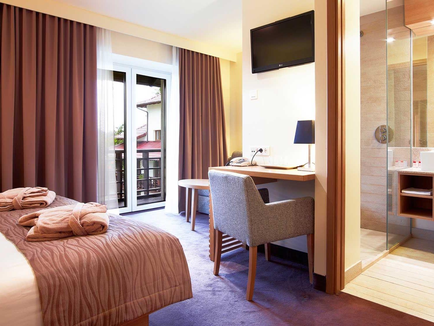 Interior of King Balcony Room at Ana Hotels Sport Poiana Brașov