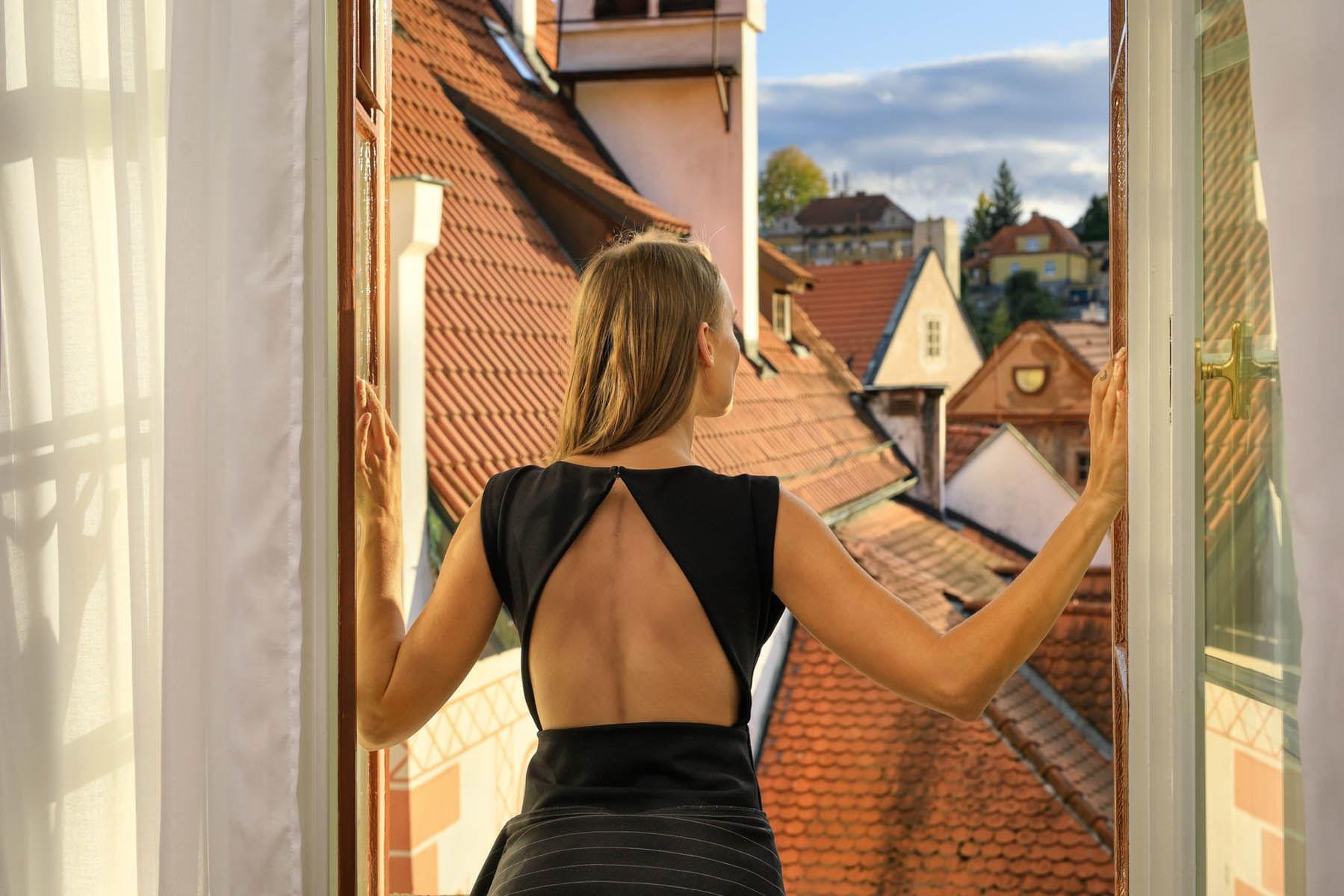 View from deluxe room at Hotel Old Inn, Český Krumlov