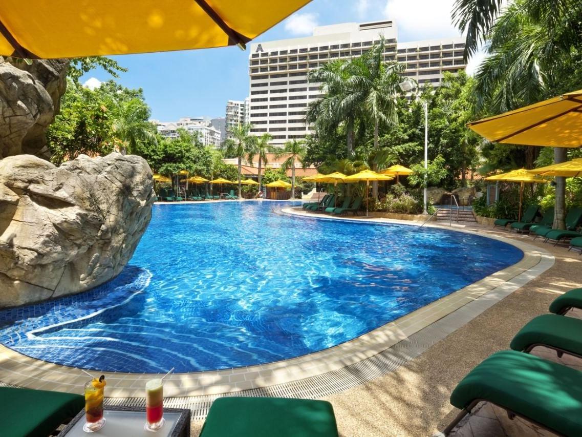 Swimming pool of AGL Resort at Artyzen Grand Lapa Hotel Macau