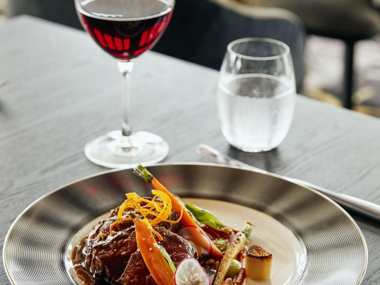 Wagyu Beef in Infinity Restaurant at Daydream Island Resort
