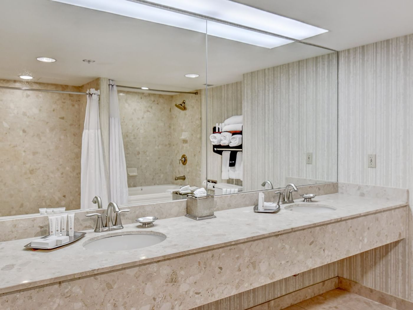 accessible bathroom at grove hotel