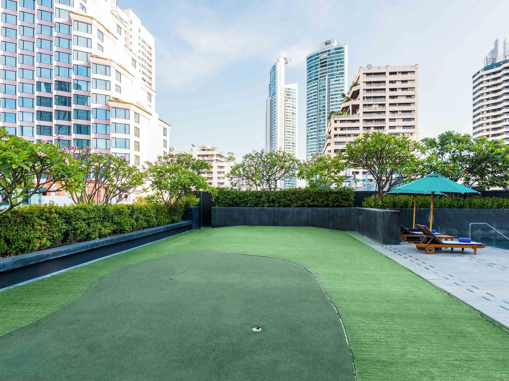 View of rooftop garden at Maitria Hotel Sukhumvit 18 Bangkok