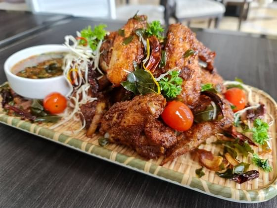 close up of delicious Beer Chicken Wings at The Danna Langkawi